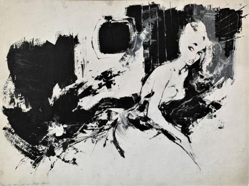 Sort hvid pigebillede af Otto Nielsen